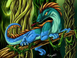 Rain Forest Lizard by Kyrara