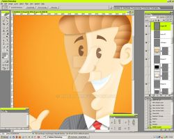 Vintage character PS WIP by roberlan