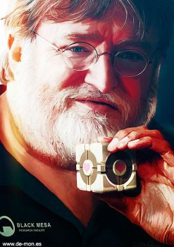 Gabe Newell - Valve time | @steam_games by De-monVarela