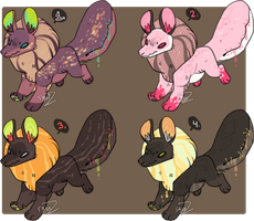 Puffy jamquatzs adoptables 1 by Simonetry