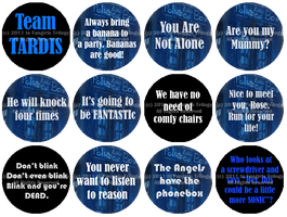 Doctor Who Buttons by DarthRegina125