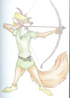 Sketch - Robin Hood by happineff