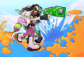 splatoon 2 pearl and marina by scotchi