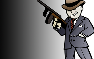Fallout -Gangster- Wallpaper by HodnasX