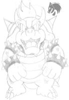M and L:BIS Bowser sketch by Chibi-Tediz