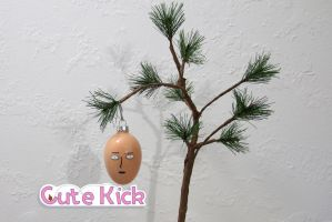 One Punch Man Saitama Ornament by cutekick