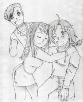 Ed X Winry... and Al by Mdiaz13