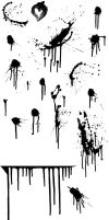splatter brushes, flat file by z0mbieparade