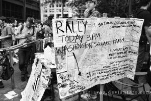 Washington Square Park Rally by Kirjavaa