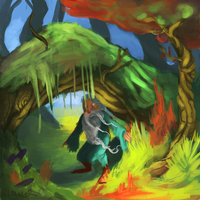 wizard in a forest by ALMAGOR