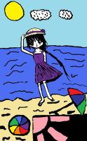 Girl at the Beach - Colored by lovelight27