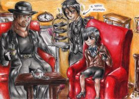 Ciel and Undertaker 1 by FuriarossaAndMimma