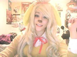 Isabelle animal crossing new leaf cosplay by MrsBehrudy