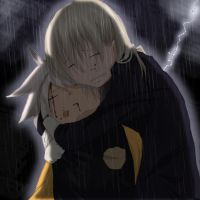 Soul and Maka - Rain by gone-phishing