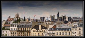 the roofs of Paris by bracketting94