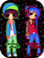 Neon Punk Adopts (CLOSED) by Kariosa-Adopts