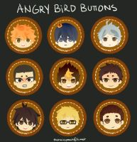 Haikyuu Buttons by thehairypeach
