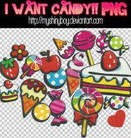 I Want Candy PNG by MyShinyBoy