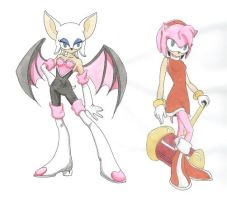 Amy and Rouge by whisperelmwood