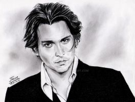 Johnny Depp portrait by jos2507