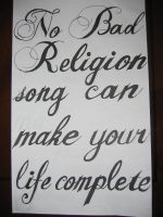 No Bad Religion Song by BadReligion-fans