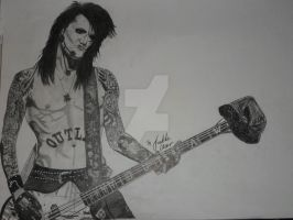 Ashley Purdy Black veil Brides black and white by xxdaswarwohlnix