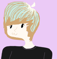 Me-- My first tablet drawing. by EvilJazzieBear
