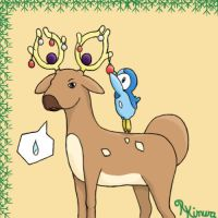 Stantler and Piplups chistmas by Ryou-Kimura