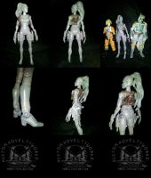 Star Wars Six Inch Aurra Sing Action Figure WIP by ayelid