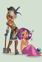 .Pirate Girl and Life Girl. by Infected-Ellis