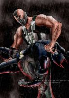 Batman vs Bane - Knightfall (color) TDK RISES by terry312237