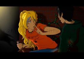 Percabeth in Action by Kat-Anni