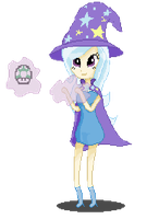 The Great and Pixelated  Trixie by Rizzych