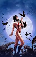 Vampirella 2 cover by PaulRenaud