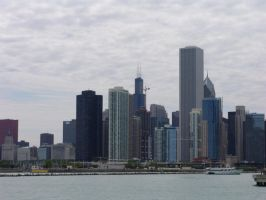 chicago skyline by januarystoc by januarystock
