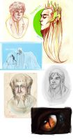 The Hobbit sketch dump by neverland-magic