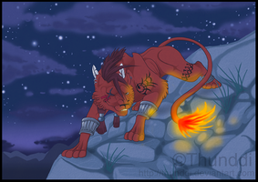 Red XIII - Night by Thunddi