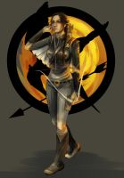 The Girl on Fire by fee-absinthe