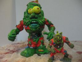 Muckman And Joe Eyeball with fig by Potatoheadmaster