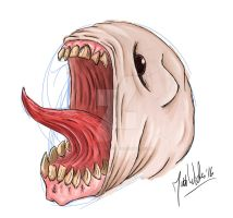 Screaming Monster - Surface Pro 4 Clip Studio test by zones-productions