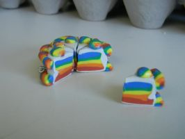 Rainbow Cake Charms by SlightInsanity