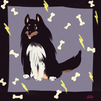 I drew my dog by The-EverLasting-Ash