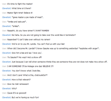 Naruto talking to Cleverbot by Madeleneerpen