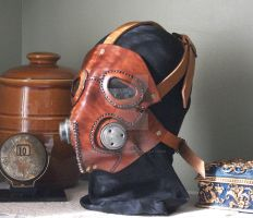 Steampunk Leather Mask by JoannaCorrinCoutures