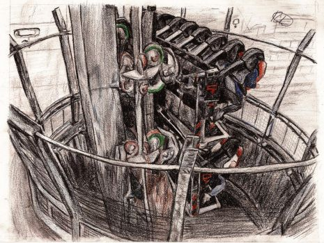 Oblivion at Alton Towers by RacsterArt