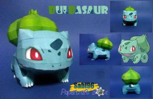 Bulbasaur Papercraft by Sabi996