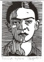 New Frida Kahlo ACEO by 21imp