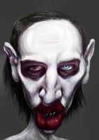 Marilyn Manson caricature by Mandala87