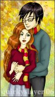 Lily and James Potter by quirkyslayer