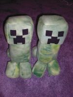 Creeper Plushes by UnluckyPrincess